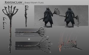 Bloodborne Fanart - Ravenclaw weapon idea by daemonstar