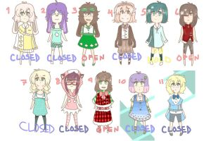 (3/11 open) 11 ADOPTS by kushihonda