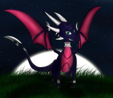 Cynder under the moon by UmbraScythe