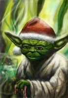 Christmas Yoda by antonvandort