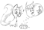 Tem gets food by Prof-Dick