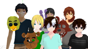 FNAF 4 kids DL!!!! by sangonanami