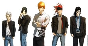 BLEACH guys by Juhani