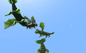 my classic toothless and his friend in spore 2 by moonofheaven1