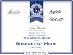 Mush! Kennels TKC Breeder of Merit Certificate by xMush-Kennelsx