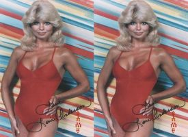 Loni Anderson red swimsuit by 3dpinup