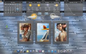 Rainmeter CWR-BAR 2.0 by Blueonegermany