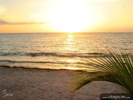 Akumal Sur Sunset 01 by cbspicer