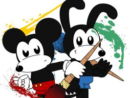 Epic Mickey and Oswald by AshleyWolf259