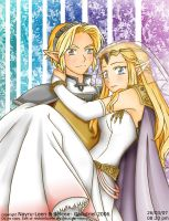 LinkxZelda_Wedding by Nayru-Leen