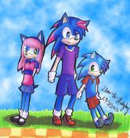 Children of Blue and Pink by Libra-the-Hedghog