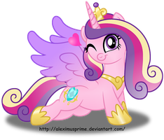 Princess Cadence button design by AleximusPrime