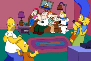 The Simpsons' Couch Gag by Akhilla