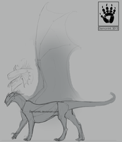 Dragon Thing Sketch by DemonML