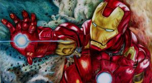 Iron Man completed Print by Hazeleyes1990