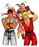 Ryu, Ken, and...... Dan by DHK88