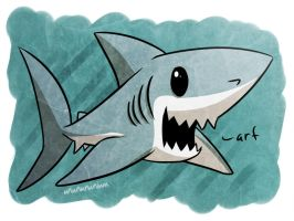 shark week day 5- PORBEAGLE by Ununununium