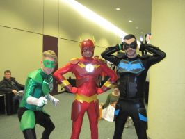 Green lantern, Flash and nightwing by JMCosplay