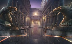 Ashtaria - Hall of Sphinxes by xavor85