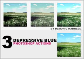 Blue actions by demonic-madness
