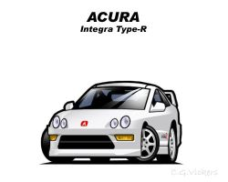 Chibi Acura Integra Type R by CGVickers