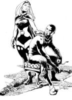 Storm and Black Panther by SimonFraser