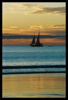 Pearl lugger at sunset 3 by wildplaces