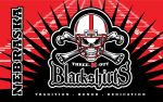 Husker Blackshirts Flag by vectorgeek