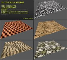 Free 3D textures pack 26 by Nobiax