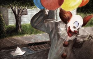 Stephen King's It, Pennywise the clown by tboersner