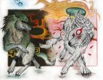 Ammy and Wolf Link by XRosewaterX