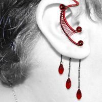 Red And Black Ear Wrap by YouniquelyChic