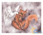 ADOPTABLE OPEN - Flying Cat Companion by LeoDragonsWorks