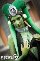 Oola Cosplay ( Twi'Lek slave of Star Wars) by STeamUP