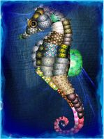 A Calico Seahorse by TamaKage