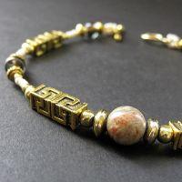 Aztec Gemstone Bracelet by Gilliauna