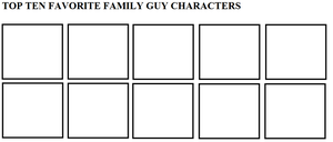 Top Ten Favorite Family Guy Characters by ElMarcosLuckydel96