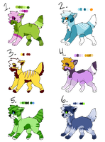 Unnatural Dog adopts (OPEN) by SparksHumbleAbode