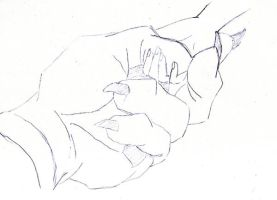 belle beast hands sketch by flauschi-leoni