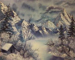 Bob Ross Lesson 3 by scribelanea