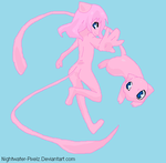 Mew Anthro Girl by Dinalfos5