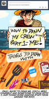 How To Draw Luffy by CodeNameZimbabwe