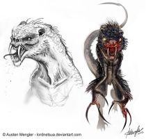Creature Design: Final sketches by LordNetsua