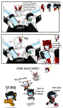Autobots worktime XD by BloodyChaser