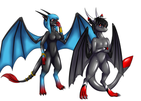 Hiro and Hira Dragon forms (commison) by Tomek1000