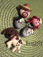 Cowboy Themed Magnets2 by SugiAi