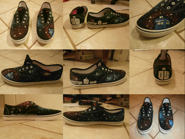 Doctor Who shoes by trixypuff