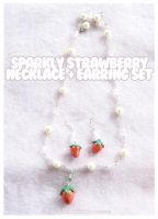 Sparkly Strawberry Jewelry by xlilbabydragonx