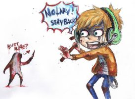Pewdie in Silent Hill-Coloured by psycho-bunny-bunny