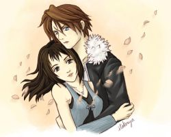Squall and Rinoa by itakoaya